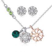 Бижута NIEVE GREEN, Колие и Обеци с кристали от Swarovski®, Zerga Brand, ZG S551