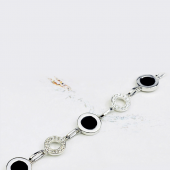 Гривна с кристали SWAROVSKI® MAGIC BLACK, ZERGA BRAND, Код ZGFNS B448