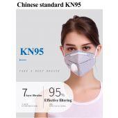 Противопрахова маска с клапан за по-лесно дишане KN95
