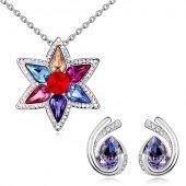 Бижута BRIGHT FLOWER с кристали Swarovski®, Колие и Обеци Zerga brand, Код ZG S567