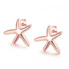 Обеци МОРСКА ЗВЕЗДА с 18К Розово Злато, Колекция Zerga Brand, Код 18KG E05254
