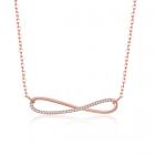 Колие БЕЗКРАЙНОСТ с Австрийски кристали и18К Розово Злато, Zerga Brand, 18KG N01819-B