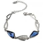 Гривна с кристали SWAROVSKI® WING Denim Blue - Син, ZERGA BRAND, Код ZG B440