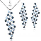 Бижута с кристали SWAROVSKI® МАРГО, Колие и Обеци,  ZERGA BRAND, Код ZG S455