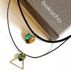 Чоукър колие Charming Choker Swarovski® HEART Vitrail Medium** VM 14 и 10мм, Код PR N523