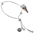 Гривна с кристали Swarovski® SPIKE 18мм Rainbow Dark - Многоцветен, Код PR B452