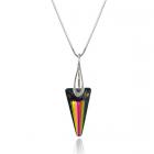 Колие с кристали Swarovski® SPIKE 18мм  Rainbow Dark - Многоцветен, Код PR N452A