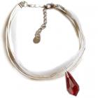 Гривна МАРТЕНИЦА SWAROVSKI® TEAR SIAM, червен цвят, Код PR B436B