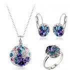 Бижута МАГНИТО, SWAROVSKI® Crystals, Колие, обеци и пръстен, Zerga Brand Код ZG S002-3