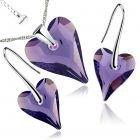 Бижута с кристали Swarovski® WILD HEART Tanzanite**, Лилав, Колие и Обеци (17 и 12мм),  Код PR S412