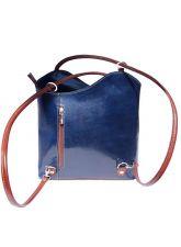 Чанта Естествена Кожа БРЕРА, FLORENCE, син/кафяв цвят, Код FL2071A