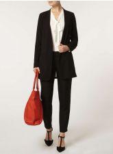 Стилно дамско сако DOROTHY PERKINS в плътен черен цвят, Размер L, Код JA908