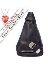 Чанта-Раница Естествена Кожа СФОРЦА, FLORENCE, черен цвят, Код FL20072A