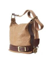 Чанта Естествена Кожа ЛОМБАРДИЯ, FLORENCE, бежов/кафяв цвят, Код FL300S9
