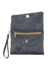 Чанта Естествена Кожа ГРАЦИЯ, FLORENCE, тъмносин цвят, Код FL411S7