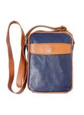 Чанта Естествена Кожа МИКЕЛЕ, FLORENCE, тъмносин/кафяв цвят, Код FLB032B3