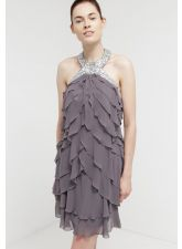 Прекрасна рокля LAONA с кристали в меко сиво, Размер M, Код DD512