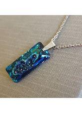 Колие с кристали SWAROVSKI® Growing Crystal RECTANGLE 26 мм, Bermuda Blue BBL, Син, Код PR N609