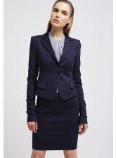 Неустоимо дамско сако PATRIZIA PEPE от невероятна материя в цвят индиго, Размер XL-XXL, Код JA912