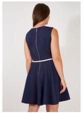Кокетна  рокля CLOSET от красива материя в цвят индиго, Размер XXL/XXXL, Код DD501