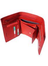 Портфейл Естествена Кожа ФЕРАРА, FLORENCE, червен цвят, Код FL PF0525