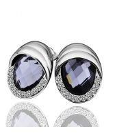 Обици МИЛАНО, 18K бяло златно покритие, Zerga Jewelry, 18KG E31517