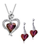 Колие и обеци PURPLE HEART NEW, Бижута ZYRDA Crystals from SWAROVSKI®, Код ZD S045