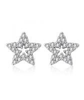 Обеци STARLET с 18К Бяло Злато, Zerga Brand, Код 18KG E03034-B