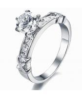 Пръстен КОПНЕЖ-А, стомана с кристален цирконий. Код 316L R016-A