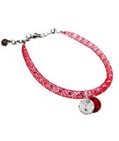 Гривна МАРТЕНИЦА SWAROVSKI® RIVOLI CRYSTAL & SIAM, бял и червен цвят, Код PR B438C