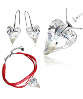 Бижута МАРТЕНИЦА SWAROVSKI® WILD HEART CRYSTAL бял цвят, Колие, Обеци и Гривна (17мм, 12мм и 12мм) Код PR S439A-3