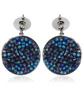 Обеци с кристали Swarovski® CRYSTAL ROCK, Bermuda Blue BBL - Син, Код PR E440B