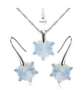 Бижута с кристали Swarovski® EDELWEISS Колие и Обеци, 14мм White Opal - Опал, Код PR S442