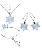 Бижута с кристали Swarovski® EDELWEISS Колие, Обеци и Гривна, 14мм White Opal - Опал, Код PR S442-3