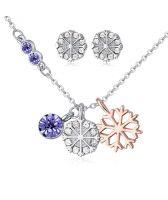 Бижута NIEVE VIOLET, Колие и Обеци с кристали от Swarovski®, Zerga Brand, ZG S551A