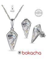 Бижута кристали SWAROVSKI® KITE Колие и Обеци 14 мм, Crystal - Бял цвят, Код PR S606