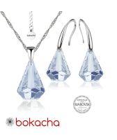 Бижута с кристали Swarovski® RAINDROP 14мм Blue Shade**, Син, Колие  и Обеци 14мм,  Код PR S453A