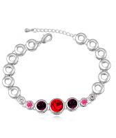 Гривна с кристали Swarovski® RED TUNE, Код PR B004B