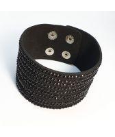 Гривна КАНАРИЯ с Австрийски кристали, черен цвят, Unique Boutique, UBFNL B170
