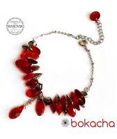 Гривна с кристали SWAROVSKI® ROYAL CHIC, Червен цвят, Код PR B622