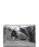 Дамска Чанта Diesel, тип клъч в цвят сив металик, Код F138