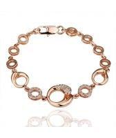 Гривна КРИСТАЛ РИНГС, Zerga Collection, розово златно покритие 18KG B03177