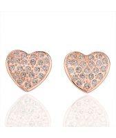 Обици ОБИЧАМ ТЕ с розово злато - Zerga Jewelry, Код 18KG E06933