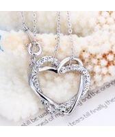 Колие ВПЛЕТЕНИ СЪРЦА - Zerga Jewelry - бяло златно покритие 18KG N04096