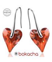 Обеци с кристали Swarovski® WILD HEART Red Magma**,Червен цвят, 12мм, Код PR E411