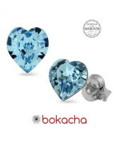 Обеци с кристали Swarovski® SWEET HEART Aquamarine AB - Светлосин, 5,5 мм, Код PR E201B