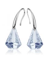 Обеци с кристали Swarovski® RAINDROP 14мм  Blue Shade**, Син, Код PR E453A