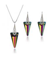 Бижута SWAROVSKI® SPIKE  Rainbow Dark - Многоцветен, Колие  и Обеци 18мм ,  Код PR S452A