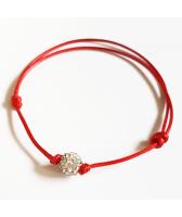 Гривна с червен конец за здраве и късмет SHAMBALA CRYSTAL бял цвят, Код PR B440