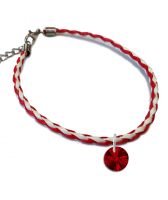 Гривна МАРТЕНИЦА SWAROVSKI® RIVOLI SIAM червен цвят, Код PR B445B